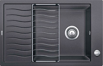 Кухонная мойка BLANCO ELON XL 6S SILGRANIT темная скала с клапаном-автоматом  мойка elon xl 6 s f alumetallic 519512 blanco