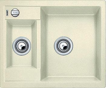 Кухонная мойка BLANCO METRA 6 SILGRANIT жасмин с клапаном-автоматом  blanco metra 45s f с клапаном автомата аллюметаллик