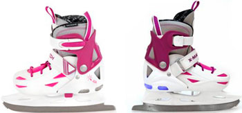 Коньки ледовые X-Match прогулочные подсветка р. 28-31 дев (64594) прогулочные коляски x lander x cite