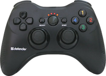 Геймпад Defender Scorpion L3 USB-PS2-PS3 радио Li-Ion (64266) руль defender forsage drift gt usb ps2 ps3 64370 черный