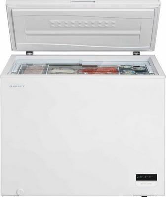 Морозильный ларь Kraft BD(W) 225 BLG с доп стеклом / c LCD дисплеем (белый)