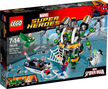 Конструктор Lego Super Heroes Человек-паук В ловушке Доктора Осьминога 76059 lego super heroes 76059 человек паук в ловушке доктора осьминога