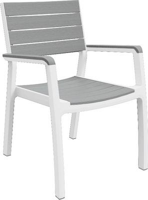 Стул Keter Harmony arm белый серый 17201284 gramercy стул с подлокотниками louis arm chair
