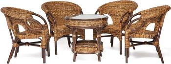 Комплект мебели Tetchair Mandalino 05/21 стол обеденный (Плетение - Банановые листья) 12003 наколенники пластиковые fit цвет черный серый 12003