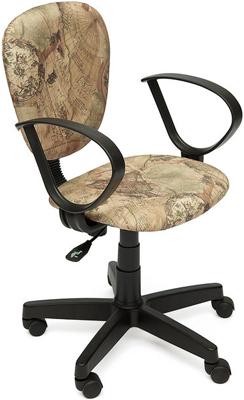 Кресло Tetchair СН413 (ткань принт ''Карта на бежевом'') кресло tetchair step ткань карта на бежевом
