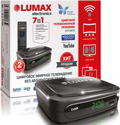 Цифровой телевизионный ресивер Lumax DV 2108 HD цифровой телевизионный ресивер lumax dv 3209 hd