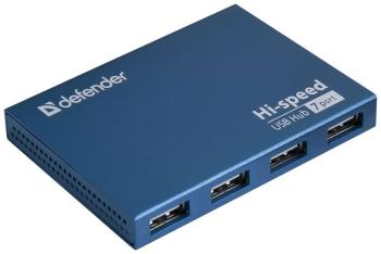 цены Разветвитель USB Defender QUADRO Septima Slim USB2.0 83505