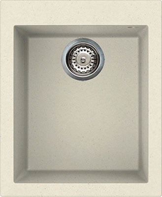 Кухонная мойка Elleci QUADRA 100  410*500  granitek (62) Bianco Antico LGQ 10062