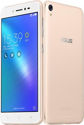 Мобильный телефон ASUS ZenFone 4 Live ZB 553 KL-5G 082 RU (90 AX 00 L2-M 01100) золотистый
