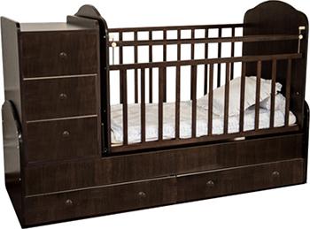 Детская кроватка Агат ПАПА КАРЛО-1 венге