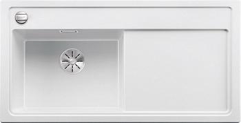 Кухонная мойка BLANCO ZENAR XL 6S (чаша слева) SILGRANIT белый с кл.-авт. InFino 523978 мойка zenar xl 6 s anthracite right 519271 blanco