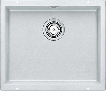 Кухонная мойка BLANCO 523436 SUBLINE 500-U SILGRANIT белый с отв.арм. InFin цена и фото