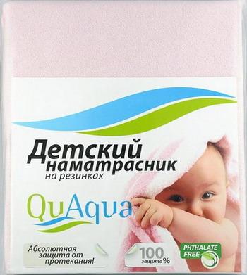 Наматрасник QuAqua Caress 65х125 розовый (690801) наматрасники forest непромокаемый натяжной наматрасник caress махра 120х60 см