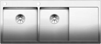 Кухонная мойка BLANCO CLARON 8S-IF/А (чаша слева) нерж. сталь зеркальная полировка 521652 смеситель для кухонной мойки blanco levos s зеркальная нержавеющая сталь 514918