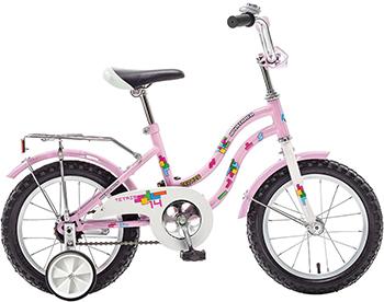 Велосипед Novatrack 14'' TETRIS розовый 141 TETRIS.PN8 двухколесные велосипеды novatrack cosmic 14