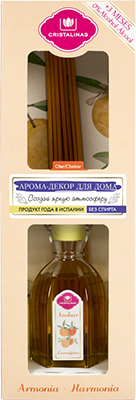 Арома-диффузор CRISTALINAS Mikado для жилых помещений с ароматом цветущего апельсина и мандарина 90 мл