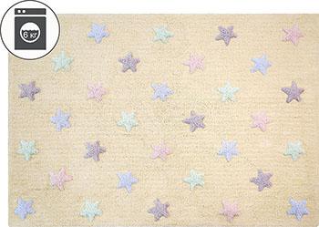 Ковер Lorena Canals Триколор Звезды Stars Tricolor (ванильный) 120*160 C-ST-V