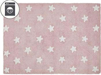 Ковер Lorena Canals Звезды Stars (розовый с белым) 120*160 C-R-SW