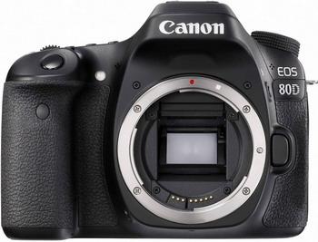 Цифровой фотоаппарат Canon EOS 80 D черный зеркальный фотоаппарат canon eos 80d