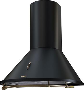 Вытяжка Krona Steel Nikol 600 black/bronze push button с рейлингом