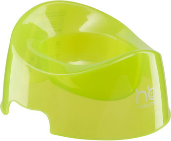 Горшок Happy Baby POTTY 34001 Lime одноразовые пакеты для дорожного горшка happy baby potty liners 34007