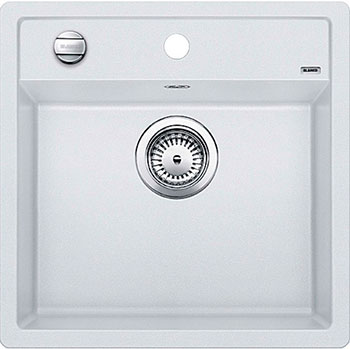 Кухонная мойка BLANCO DALAGO 5 SILGRANIT белый с клапаном-автоматом цена