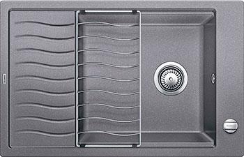 Кухонная мойка BLANCO ELON XL 6S SILGRANIT алюметаллик с клапаном-автоматом мойка кухонная blanco elon xl 6 s шампань с клапаном автоматом 518741