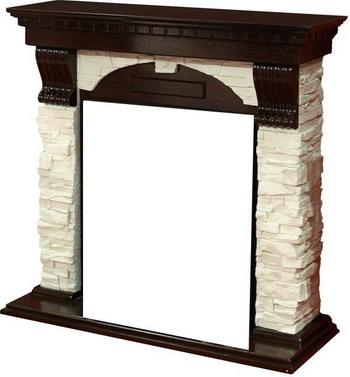 где купить Каминокомплект Royal Flame Dublin арочный сланец белый с очагом Majestic BR (венге) дешево