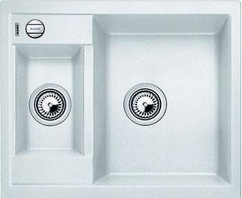 Кухонная мойка BLANCO METRA 6 SILGRANIT белый с клапаном-автоматом  blanco metra 45s f с клапаном автомата аллюметаллик