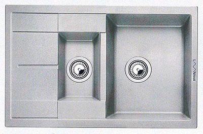 Кухонная мойка LAVA D.4 (SCANDIC серый ) кухонная мойка lava a 2 scandic серый