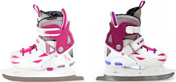 Коньки ледовые X-Match прогулочные подсветка р. 32-35 дев (64595) прогулочные коляски x lander x cite