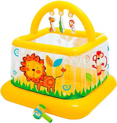 все цены на Надувной игровой манеж Intex для малышей 117х117х117 см онлайн