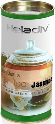 Чай зеленый HELADIV GT JASMINE 100 gr Round P.T чай bebivita травяной чай для кормящих матерей 1 г х 20 пак