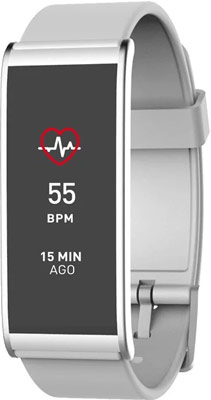 Фитнес-трекер MyKronoz ZeFit4HR (KRZEFIT4HR-WHITE) белый/серебро mykronoz умные наручные часы mykronoz zesplash white белые