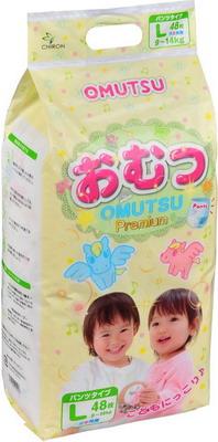 Трусики-подгузники OMUTSU L (9-14 кг) 48 шт