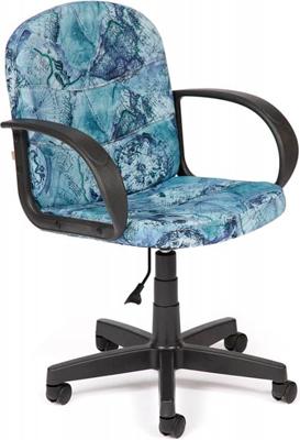 Офисное кресло Tetchair BAGGI (ткань принт ''Карта на синем'') кресло офисное tetchair сн413 принт ромашки на зеленом
