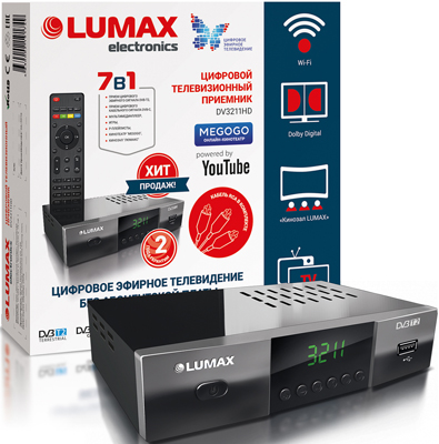 Цифровой телевизионный ресивер Lumax DV 3211 HD цифровой телевизионный ресивер lumax dv 3209 hd