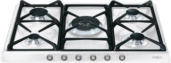 Встраиваемая газовая варочная панель Smeg SR 775 BS варочная панель электрическая smeg sim562b черный