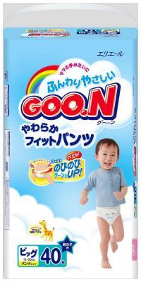 Трусики-подгузники GooN для мальчиков 12-20кг 38/40шт BIG косметика детская goon