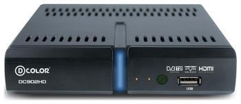 Цифровой телевизионный ресивер D-Color DC 902 HD цифровой телевизионный ресивер d color dc 1301 hd