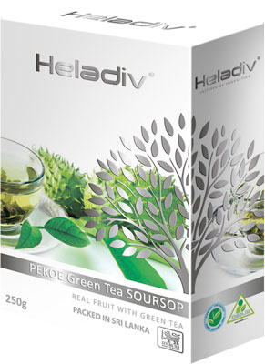 Чай зеленый HELADIV SOURSOP GREEN TEA 250 g anxi maoxie tieguanyin tea chinese oolong natural organic tie guan yin зеленый чай высшего качества чай