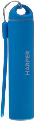 Внешний аккумулятор Harper PB-2602 Blue внешний аккумулятор harper pb 2602 pink