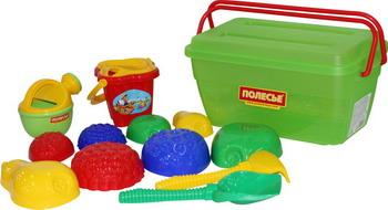 Набор для песочницы Полесье №501 в контейнере игрушки в песочницу green toys игровой набор для песочницы