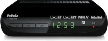 Цифровой телевизионный ресивер BBK SMP 022 HDT2 чёрный bbk smp 132 hdt2 dark grey
