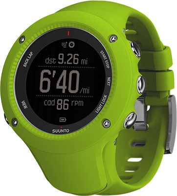 Часы SUUNTO AMBIT3 RUN LIME спортивные часы suunto ambit3 vertical lime hr ss021970000