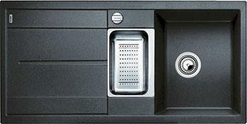 Кухонная мойка BLANCO METRA 6 S-F антрацит с клапаном-автоматом кухонная мойка blanco metra 6 s f алюметаллик с клапаном автоматом