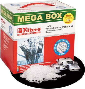 Соль Filtero МЕГА 717 3кг стремянка алюм алюмет 3ст вес 3 3кг hраб 2 7м 1 3м