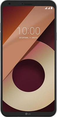 Смартфон LG Q6a M 700 черно-золотистый смартфон lg q6a 16 гб платина lgm700 acispl