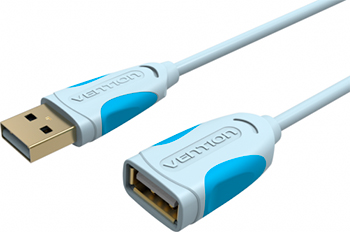 Кабель-удлинитель Vention USB 2.0 AM/AF - 2м Серый 2pcs lot 90 degree usb 3 0 a male to female left right angled adapter usb3 0 am af connector for laptop pc computer hy1408 2