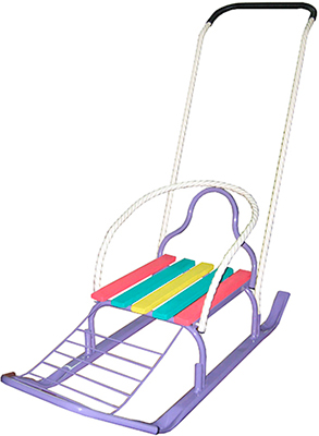Санки Еду-Еду ''Кирюша-4Ш''  Фиолетовый коляски трости еду еду e 104
